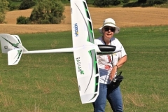 Ann launching her Radian