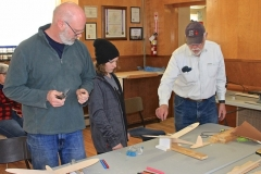 Ed Smith shows how to balance the glider on one of his homemade jigs