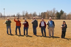 Later some of the participants took their gilders to a nearby field for some launching chaos