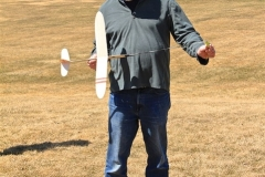 Marc Freeman showing how to side launch the glider using a slingshot device
