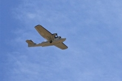 Intruder Alert!!! The CWHM's PBY-5A Canso Flies overhead.