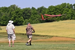 Mike S. launches his Kappa 35 as Jack L. observes