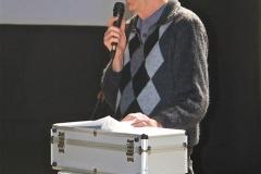 Past President, Bob Hammett presenting the history of rc sailplane modelling