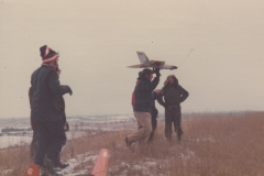 Ray Munro launching a 8 lb. Gryphon! It belonged to Siggy Telzer of Sarnia